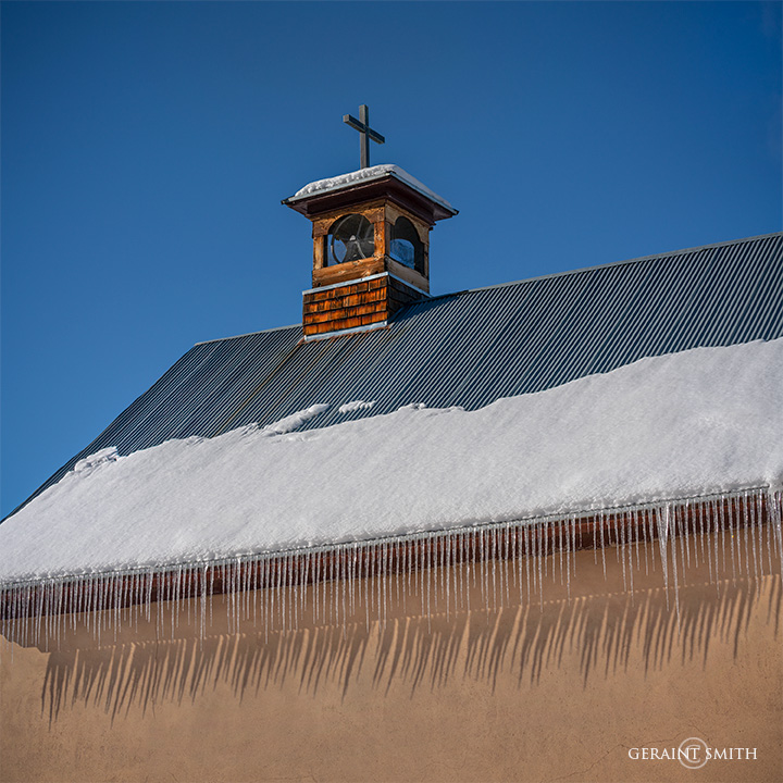 Icicles, Our Lady of Sorrows, Arroyo Hondo, NM