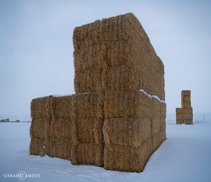 Monolithic Hay Bales, Jaroso, Colorado