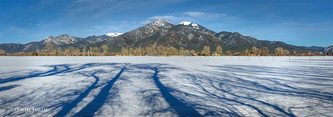 Shadows With Taos Mountain