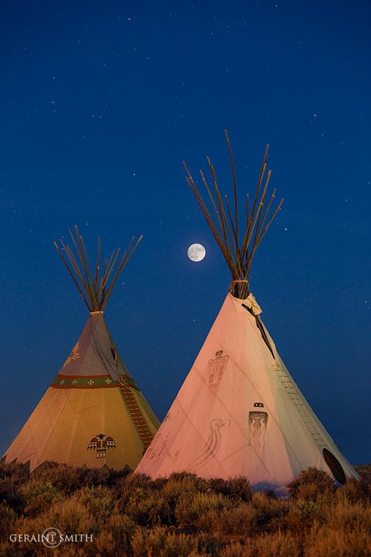 Full Moon, Taos Tipis, TBT