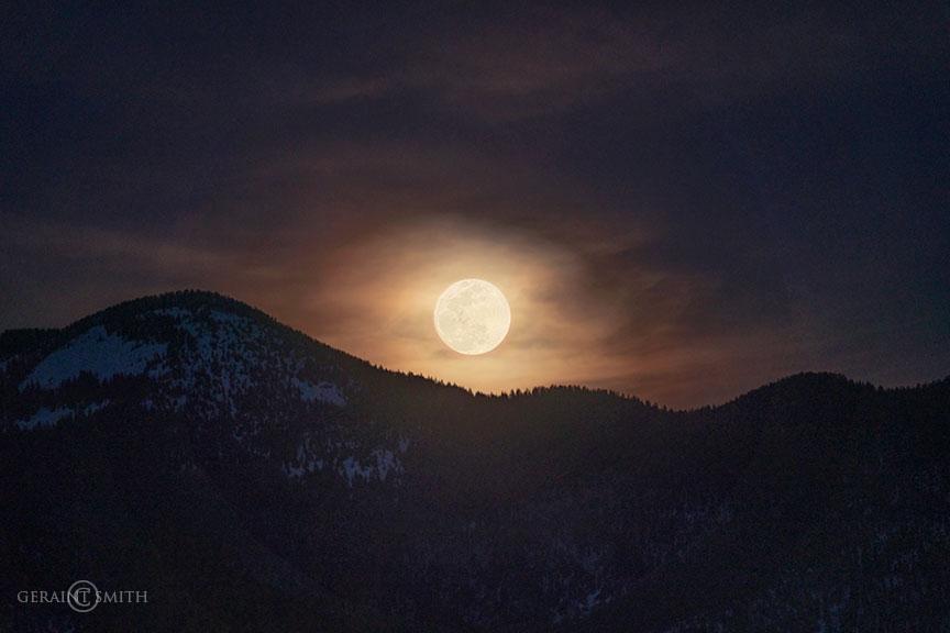 Hello spring! Sangre De Cristo mountain moon rise.