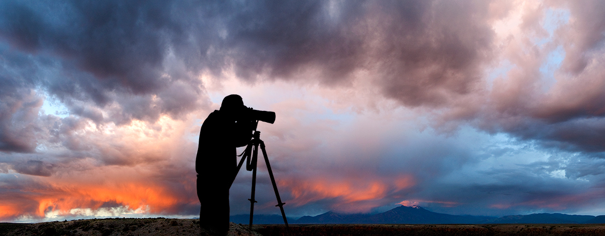 Photographing the Taos Mountains sunset