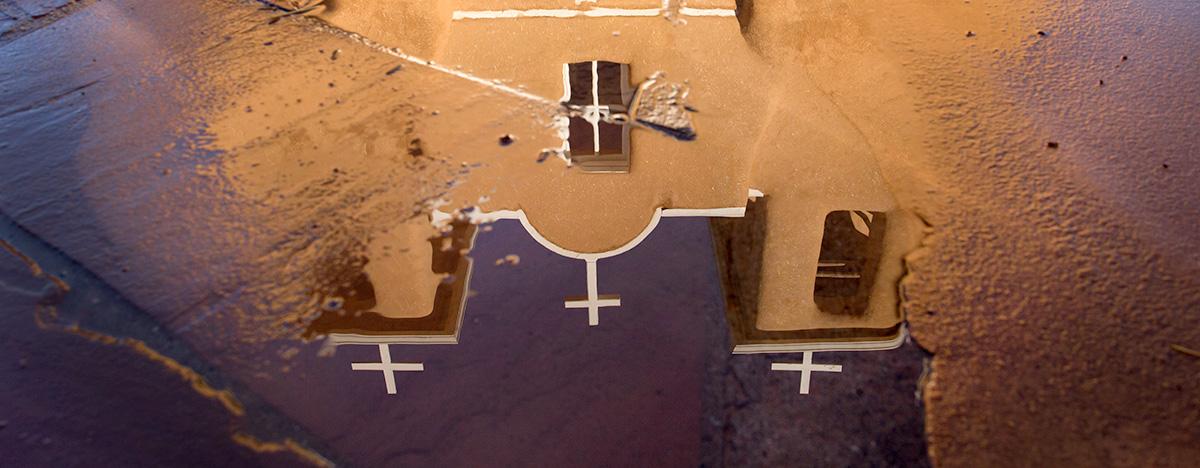 St Francis church Ranchos de Taos