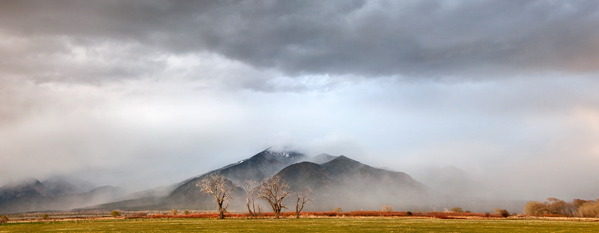 Taos Mountain spring mists