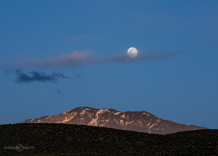 Taos Mountain Moon rise