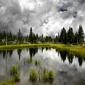 Fine art prints, Storm Lake, Mountain clouds, New Mexico