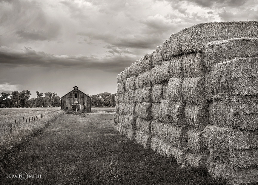 Barn and Bales, San Luis Valley