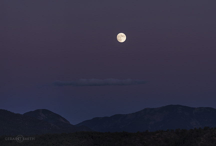 Moonrise, Taos Mountain, San Cristobal