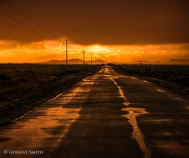 sunset road and the source of the rainbow San Luis Valley Colorado Road