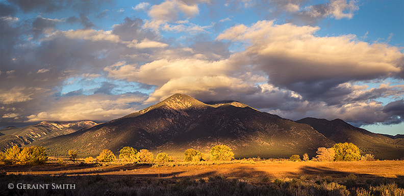 taos mountain sunset new mexico