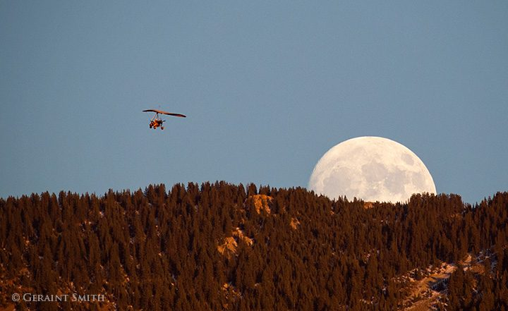 ultralight and moon rise san cristobal new mexico
