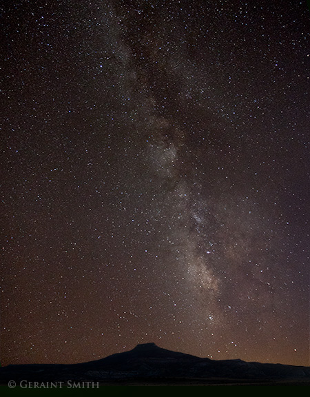 milky way over cerro pedernal
