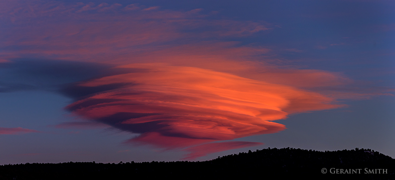 lenticular clouds over northern new mexico