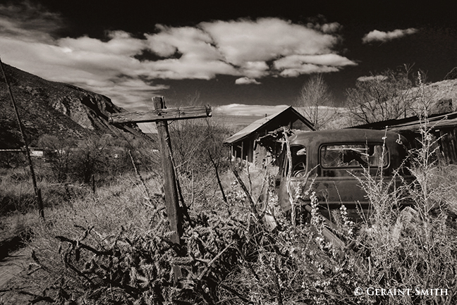 an old homestead in Pilar NM