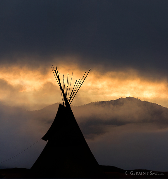 Tipi dawn Taos tipi at sunrise