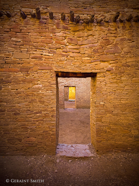 Between rooms in Pueblo Bonito, Chaco Culture National Historical Park, New Mexico.