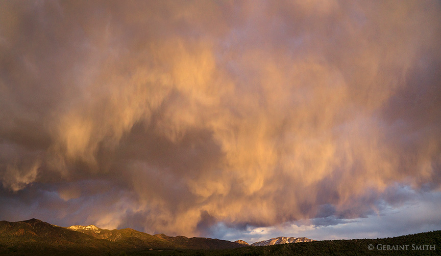 sky work clouds and sunset over san cristobal new mexico