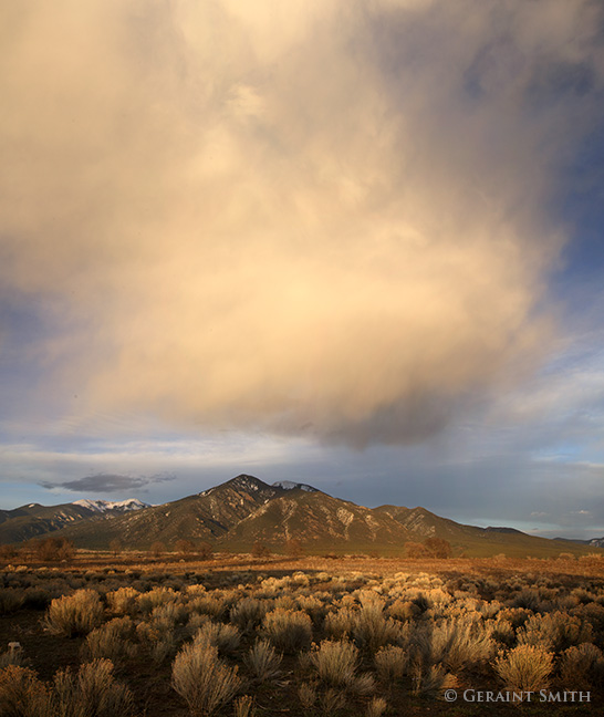 Taos Mountain cloud and sage