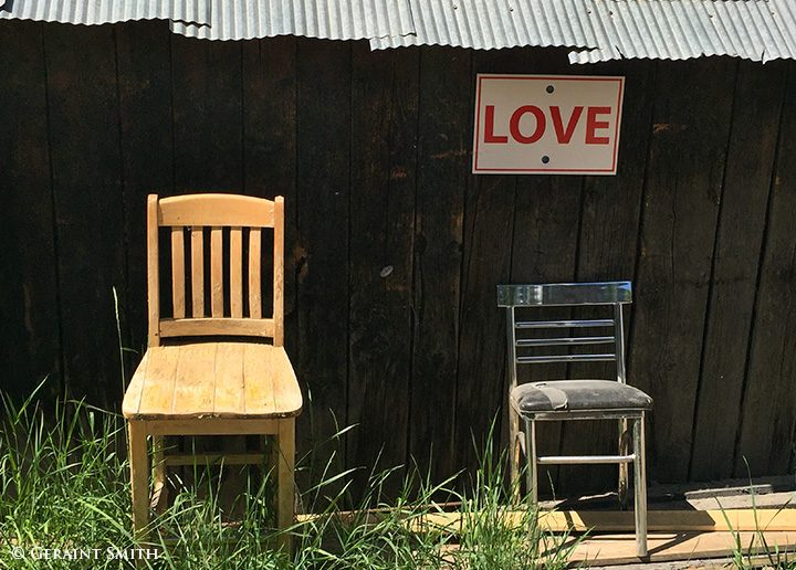 Love chairs in Crested Butte Colorado