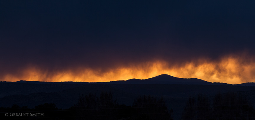 black mesa sunset light