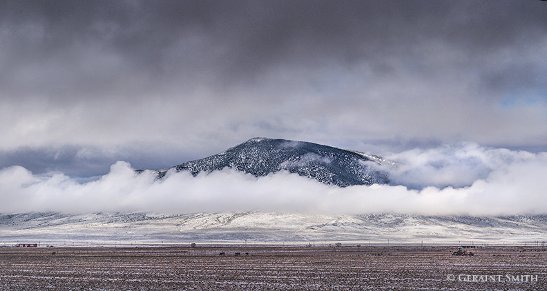 Ute mountain emerges from the clouds
