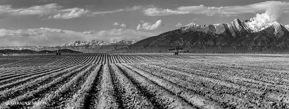 ploughed fields in the san luis valley colorado