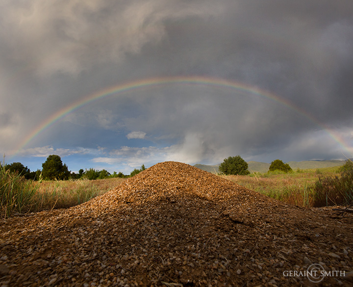 Rainbow over anthill