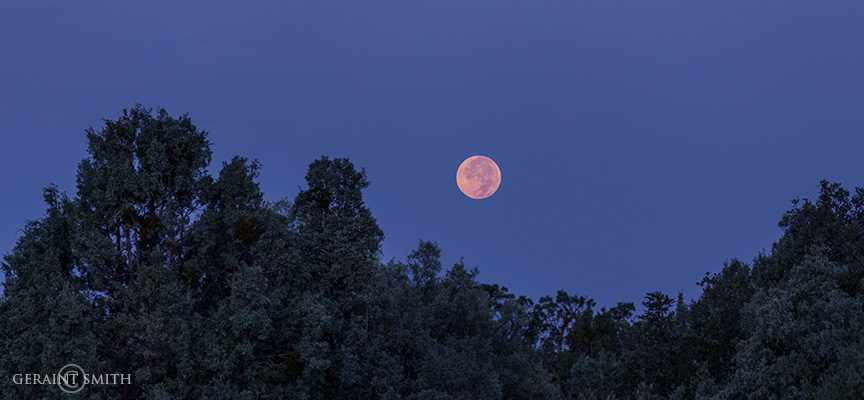 Full Moon Setting, San Cristobal, NM