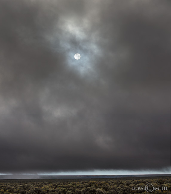 Sun Through The Mesa Clouds