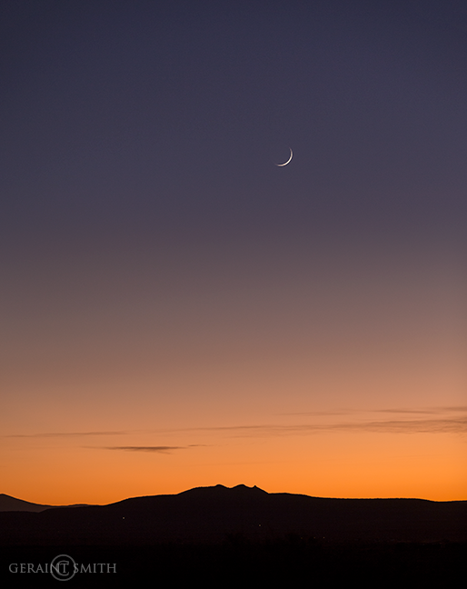 Three Peaks, Crescent Moon sunset