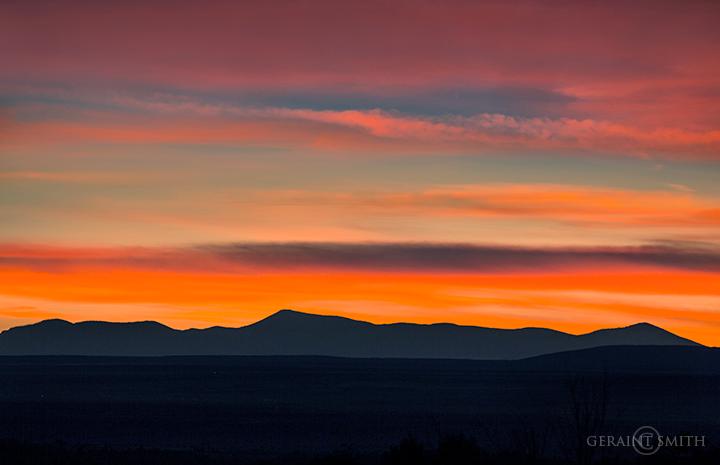 mountain sunset jemez