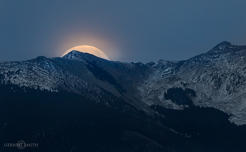 Super Moon Vallecito Mountain