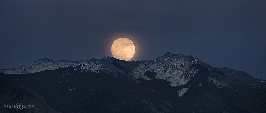 Super Moon rising over Vallecito Mountain