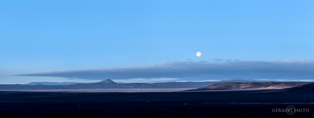 Setting Moon Across the Plateau