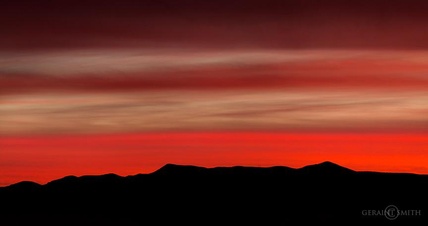 Red Sky Jemez mountain sunset