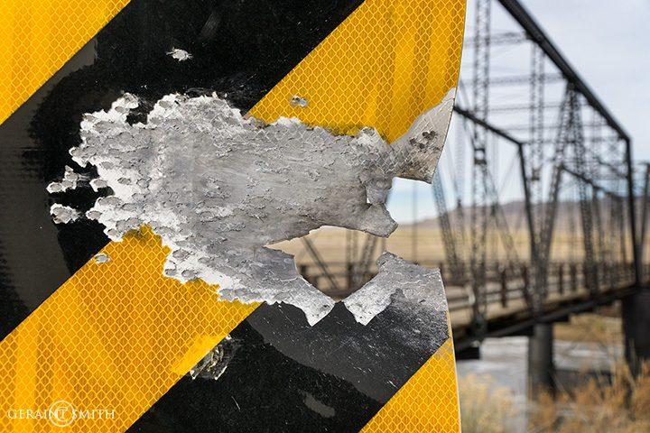 Sign Shot To Bits, Colorado