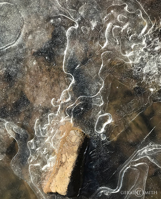 Ice Patterns On The Rio Chama