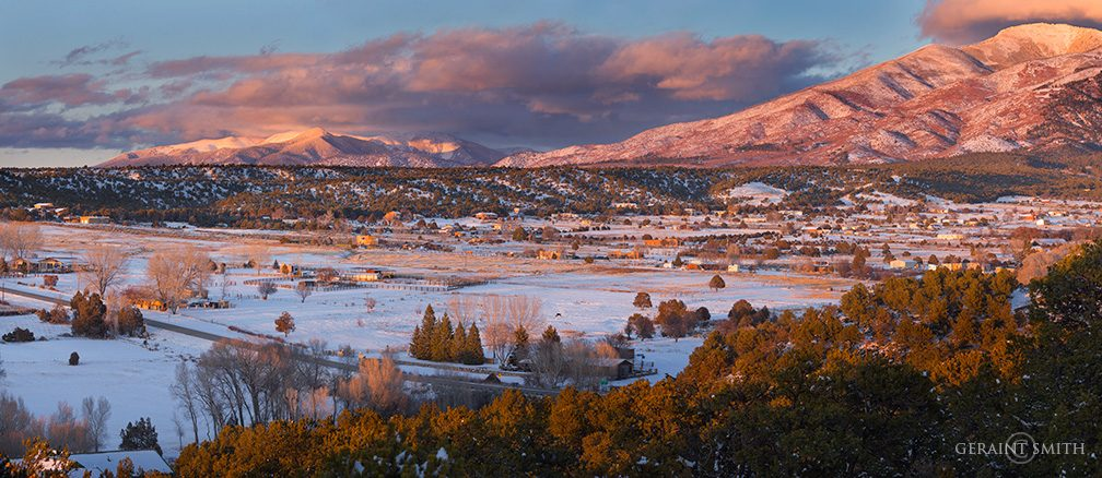 Our San Cristobal Valley In The Setting Winter Sun