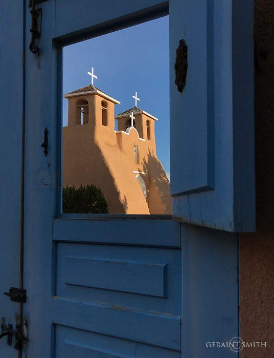 Saint Francis Church through the blue