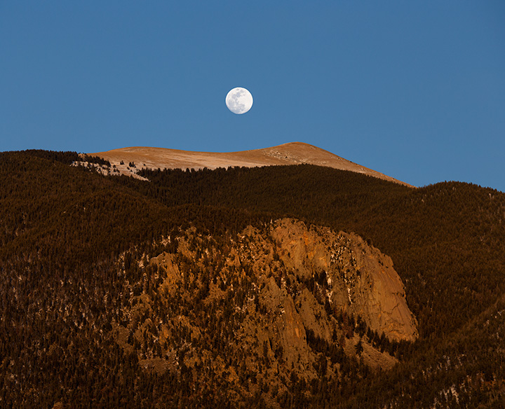 Sangre de Cristo Moon Rise, Northern New Mexico