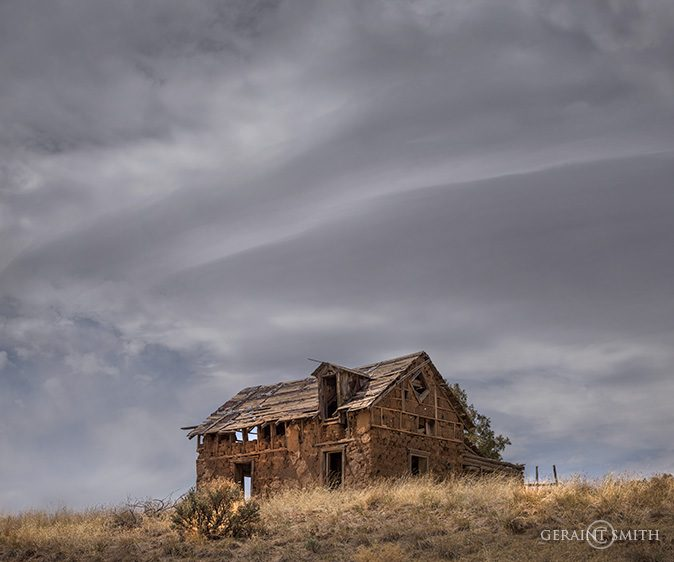 Abandoned Adobe Under a New Mexico sky