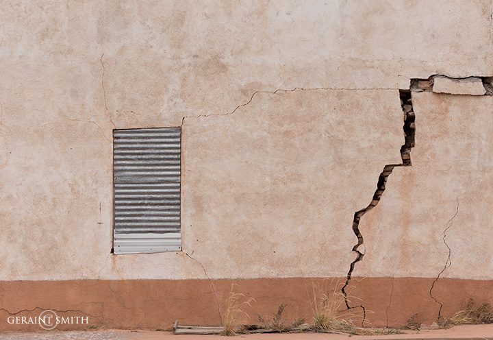 Old New Mexico Wall With Tin