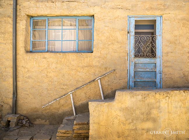 Acoma Pueblo Blue And Gold