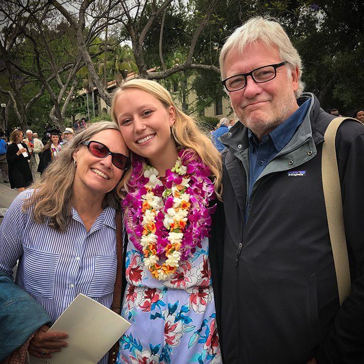 Annika's graduation from occidental college