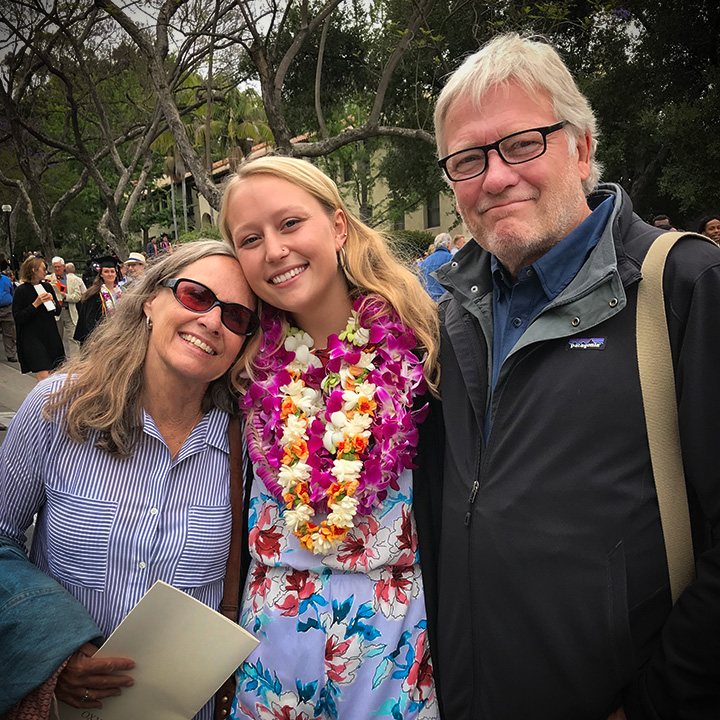 Annika's graduation from occidental college
