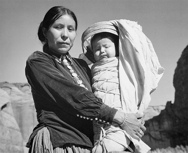 navajo woman and infant 4738601