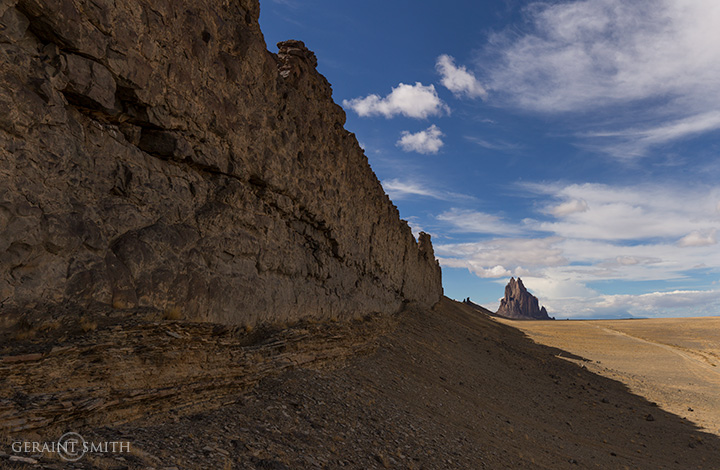 In The Shadow Of The Dike At Shiprock, NM