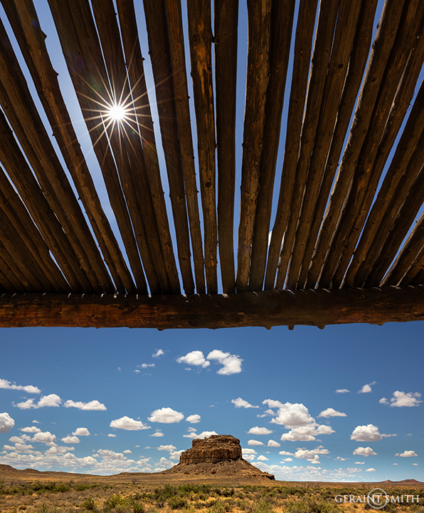 Under the ramada, Chaco Culture National Historical Park.