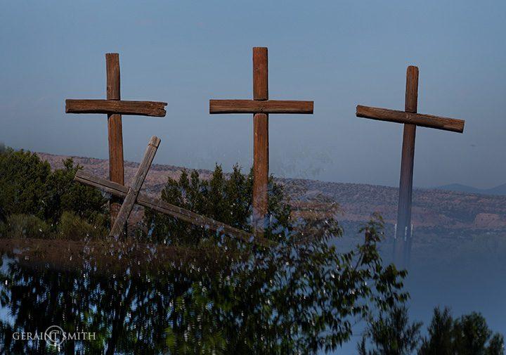 Four crosses Abiquiu, NM