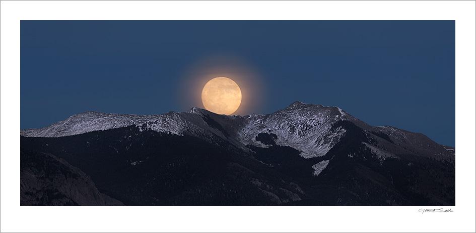 Super Moon Rise Vallecito Mountain